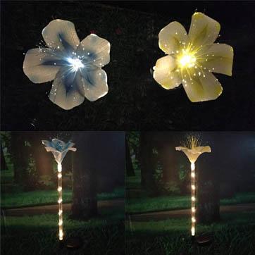 fiber optic flower decoration light